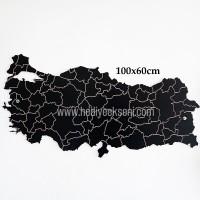 Ahşap Oyma Türkiye Haritası Hediyesi