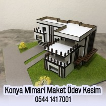 Konya Mimari Proje Lazer Maket Kesim