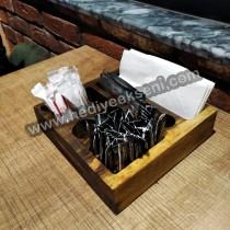 Cafe Masaüstü Peçetelik Ve Şekerlik