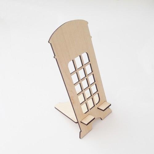Ahşap Cep Telefonu Koyma Standı Dik